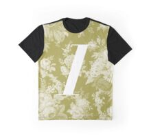 'I' Letter, Vintage Literary Print Graphic T-Shirt