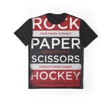 Rock, Paper, Scissors, Hockey Graphic T-Shirt