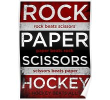 Rock, Paper, Scissors, Hockey Poster