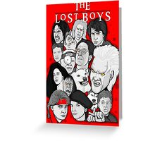 Lost Boys Collage Greeting Card