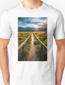 Boardwalk, October in Washington, Pacific Northwest Unisex T-Shirt