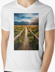 Boardwalk, October in Washington, Pacific Northwest Mens V-Neck T-Shirt