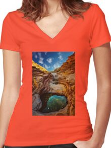 Ernst Canyon, Big Bend Women's Fitted V-Neck T-Shirt