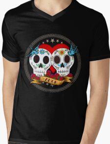 Love Skulls Mens V-Neck T-Shirt