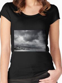 Storm Over Maunalua Bay Women's Fitted Scoop T-Shirt