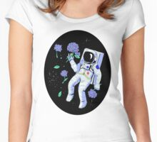 Hydrangea Astronaut Women's Fitted Scoop T-Shirt