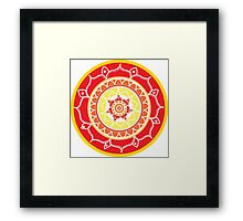 Mandala Warm 3 Framed Print