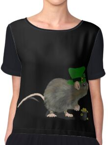 St Patrick's Rat - by Anne Winkler Chiffon Top