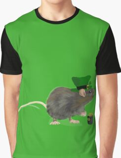 St Patrick's Rat - by Anne Winkler Graphic T-Shirt