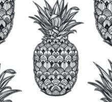 Boho seamless pattern with ornamental pineapple fruit. Sticker