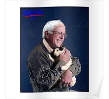 Bernie Sanders and His Cat Poster