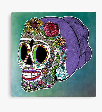 Catrina Sugar Skull Canvas Print