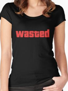 Wasted GTA Shirt Women's Fitted Scoop T-Shirt
