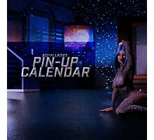 Sci-Fi Ladies Pin-Up Calendar Cover Photographic Print