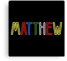 Matthew - Your Personalised Products Canvas Print