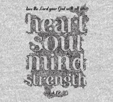 Bible Verse Mark 12:30 Baby Tee