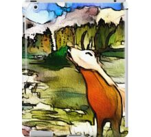 Bellowing Stag Watercolour Artwork iPad Case/Skin