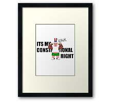 Constitutional Right  Framed Print