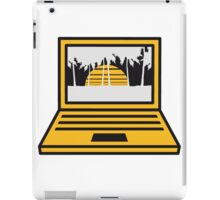 vacation, palm, sun island vacation beach computer laptop notebook pc write screen mobile tablet iPad Case/Skin