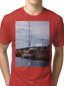 Boats at Fort Augusta (2) Tri-blend T-Shirt