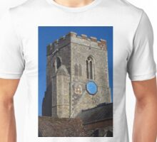 Medieval Church Tower, Kedington Unisex T-Shirt