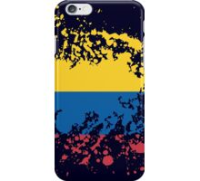 Colombia Flag Ink Splatter iPhone Case/Skin