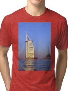 Photography of Burj al Arab hotel from Dubai. United Arab Emirates. Tri-blend T-Shirt