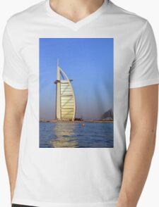 Photography of Burj al Arab hotel from Dubai. United Arab Emirates. Mens V-Neck T-Shirt