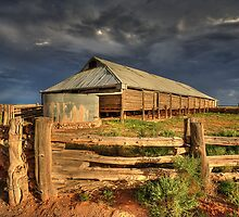 The Woolshed - Lake Mungo by Hans Kawitzki