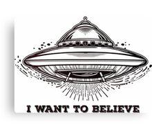 Alien Spaceship. UFO flying saucer.  Canvas Print