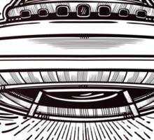 Alien Spaceship. UFO flying saucer.  Sticker