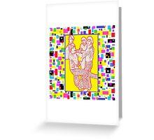 Digital Monkees Greeting Card