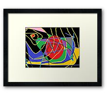 Concept of confused abstract Framed Print