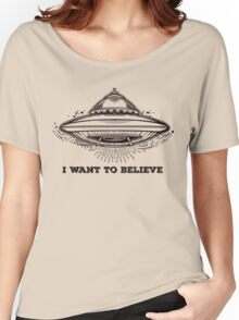 Alien Spaceship. UFO flying saucer.  Women's Relaxed Fit T-Shirt