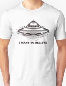 Alien Spaceship. UFO flying saucer.  Unisex T-Shirt