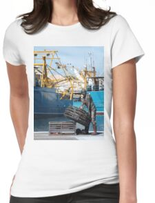 Fremantle Fishing Harbour Womens Fitted T-Shirt