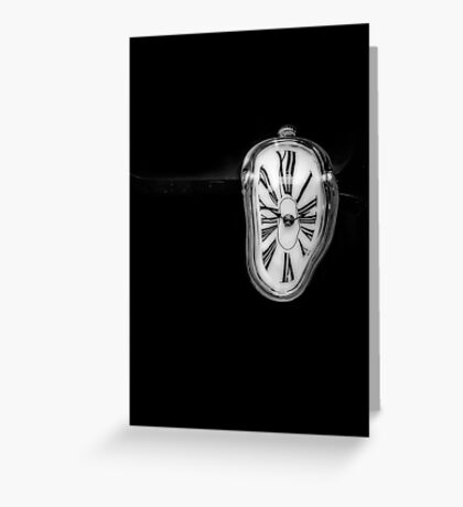 Salvador Dali Inspired Melting Clock Greeting Card