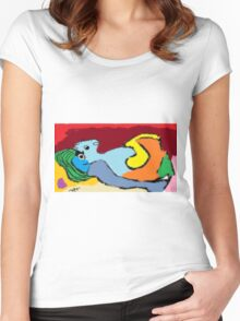 love card design, vector illustration Women's Fitted Scoop T-Shirt
