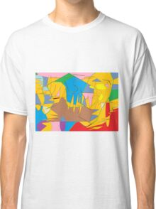 Full-color abstract scribble background Classic T-Shirt