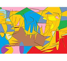 Full-color abstract scribble background Photographic Print