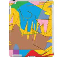 Full-color abstract scribble background iPad Case/Skin