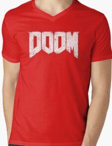 New DOOM logo game HQ Mens V-Neck T-Shirt