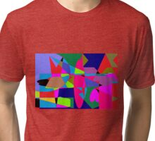 color abstract scribble background Tri-blend T-Shirt