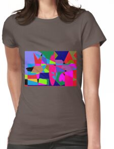 color abstract scribble background Womens Fitted T-Shirt