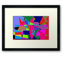 color abstract scribble background Framed Print