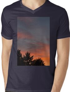 sunset at the countryside Mens V-Neck T-Shirt