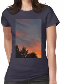 sunset at the countryside Womens Fitted T-Shirt