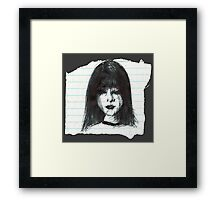 DARK MOOD ON TORN PAPER Framed Print
