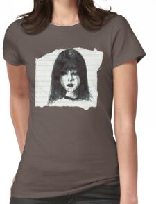 DARK MOOD ON TORN PAPER Womens Fitted T-Shirt