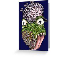 Leaking Brain Tissue Greeting Card